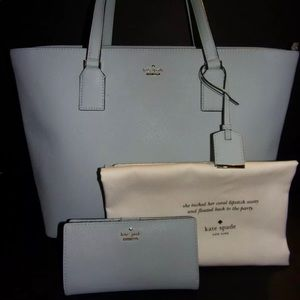 Kate Spade Cameron Street tote, wallet, &dustcover